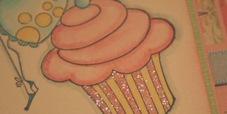 Cupcake Card CloseUp