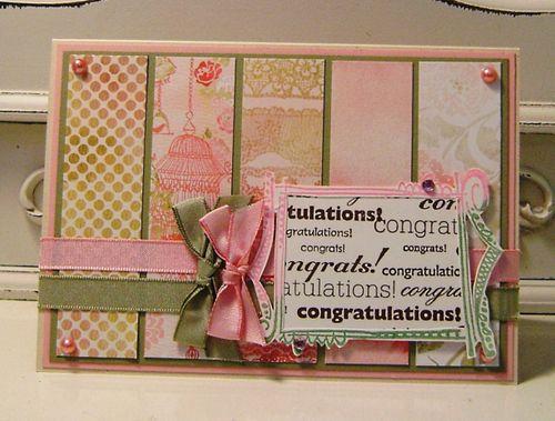 Congratulations Porcelain Card