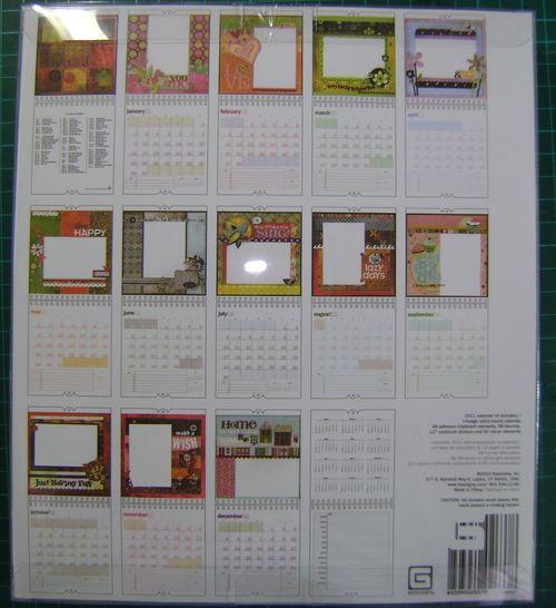 BG Calendar back