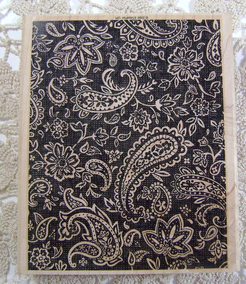 Paisley Background Stamp
