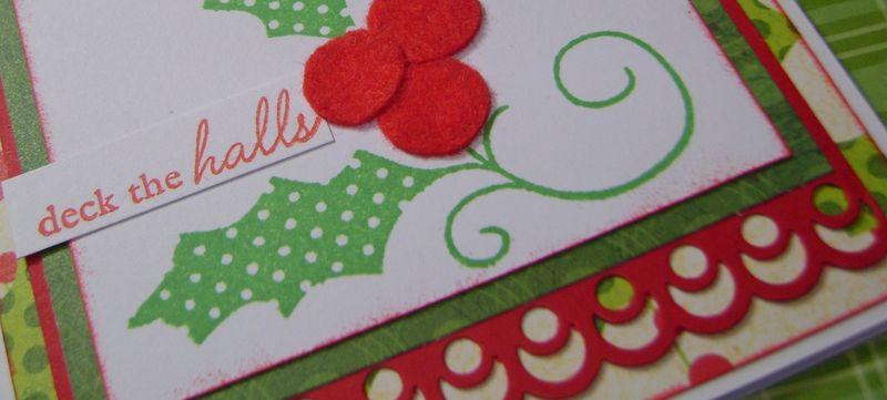 Deck the halls close up