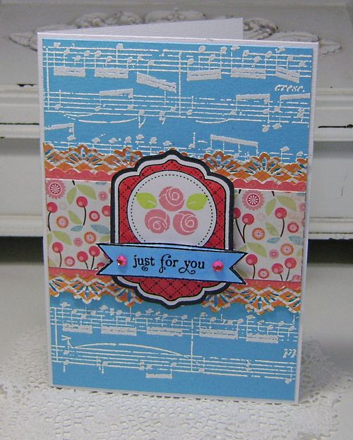 TSG Just For You embossed card