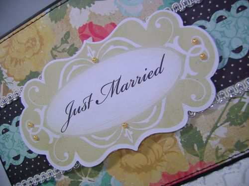 Just Married close up card