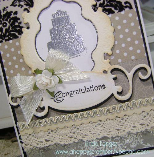 Shabby Cake Card close up