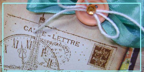 Stampers Challenge Paris BG Curio square Card narrow