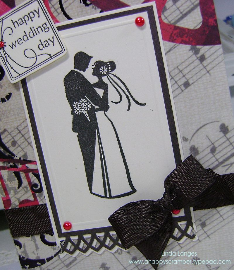 Redblackcream wedding card close up