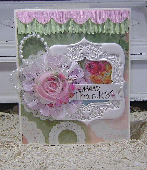 Doily flower Card