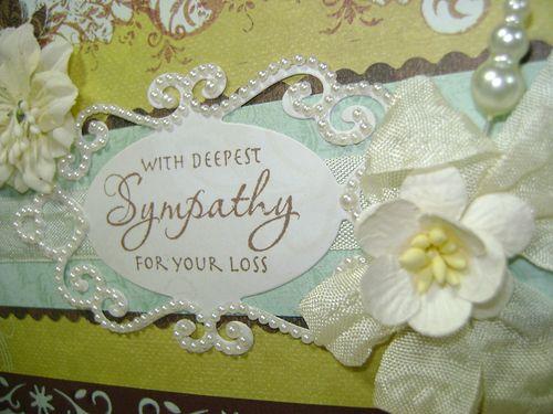 Sympathy card close up