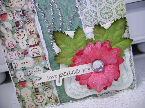 Love peace joy close up