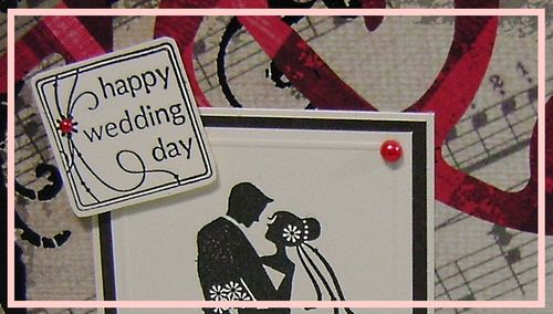 Redblackcream wedding card narrow