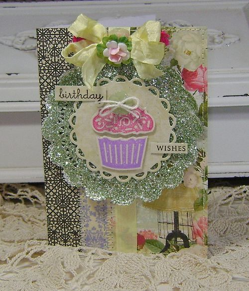 Websters Paper Doily Card