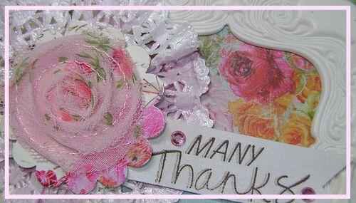 Doily flower Card narrow
