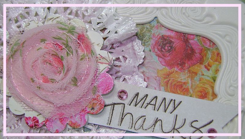 Doily flower Card narrow