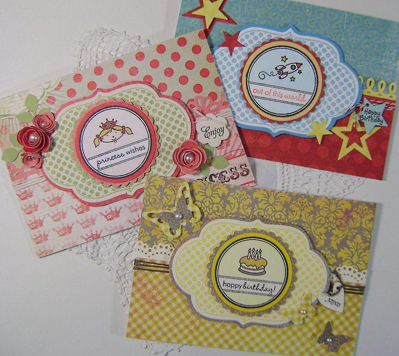 Set of 3 Tiny Treats Cards
