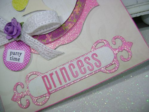 Princess Challenge card fancy tag