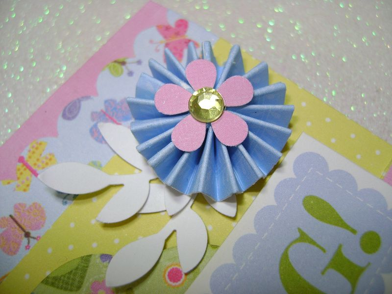 Celebrate Spring Card close up blueflower