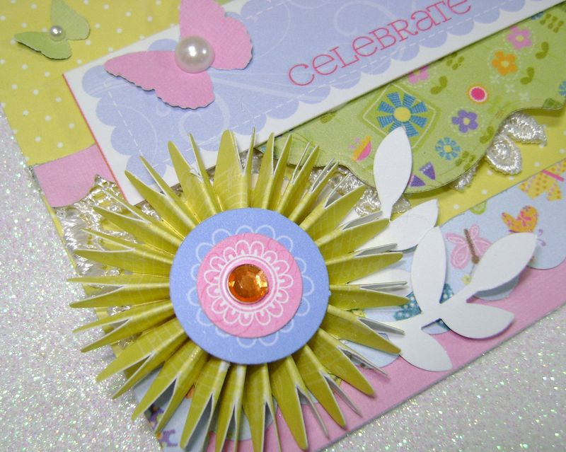 Celebrate Spring Card close up yellow flower