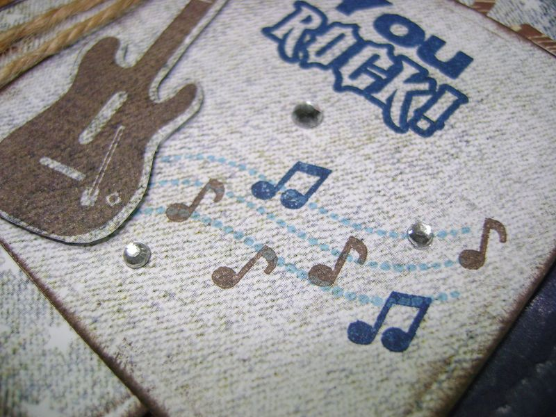 You Rock Card music notes