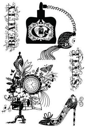 SB cling+stamps+la+femme