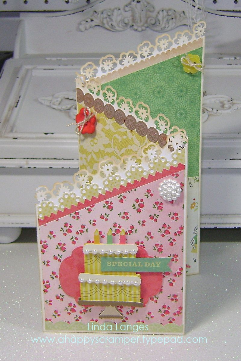 Crate paper Pretty Party Trilevel card
