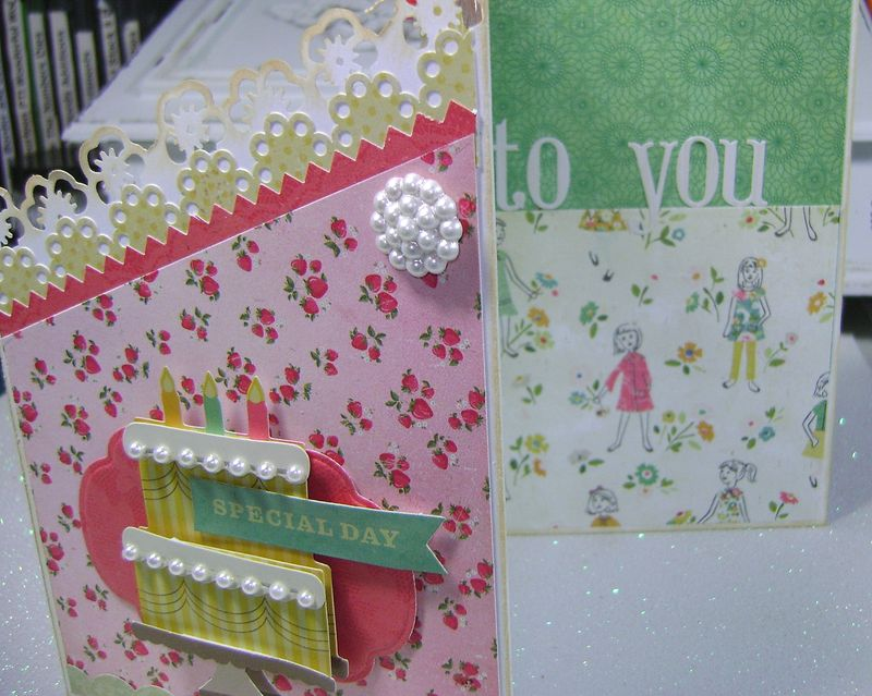 Crate paper Pretty Party Trilevel card inside