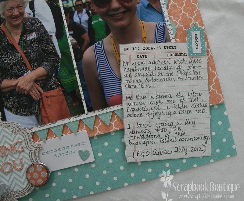 Loving Lifou journalling card