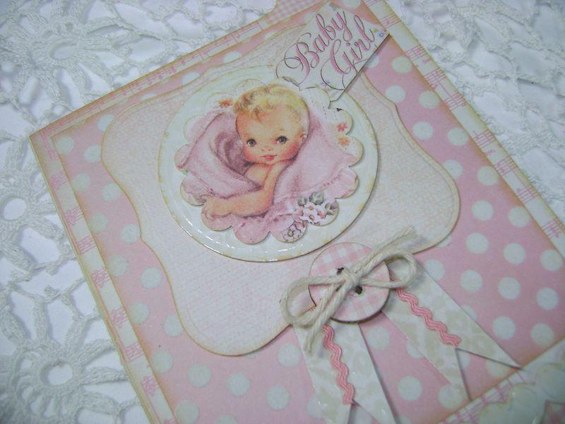 Girl card baby CU
