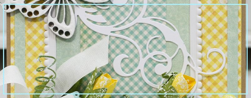 Shabby Sunshine card narrow