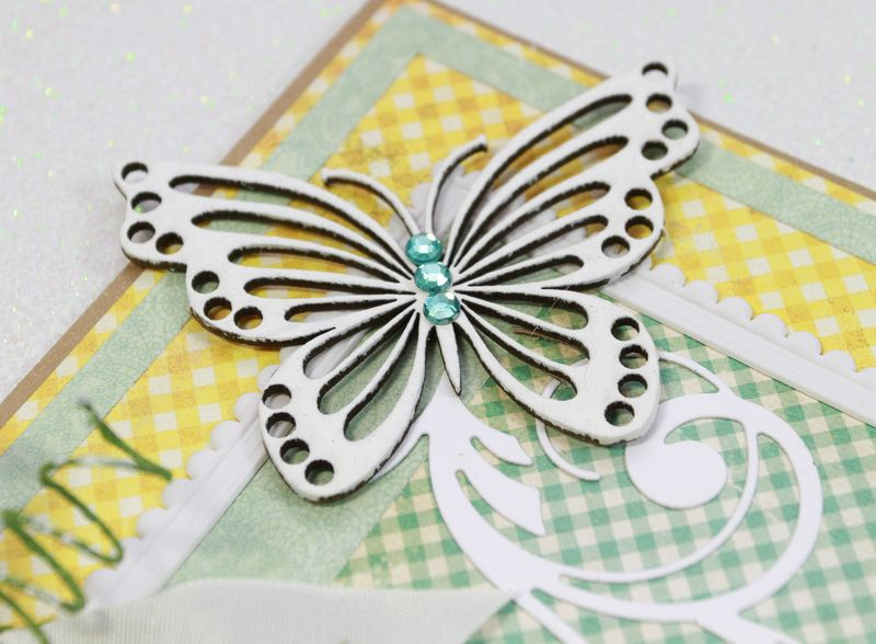 Shabby Sunshine card b'fly