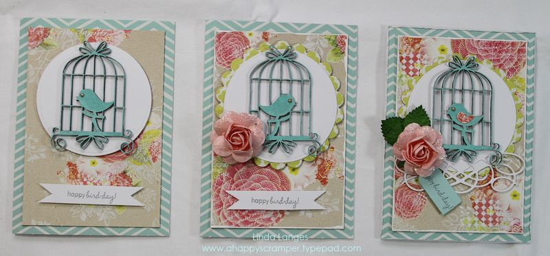 Studio Steps Cards x 3