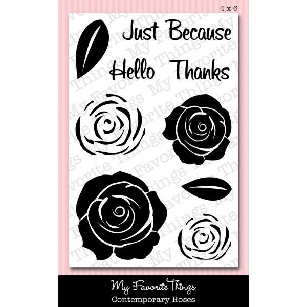 Blog Hop comment Prize MFT Contemporary Roses Stamp Set