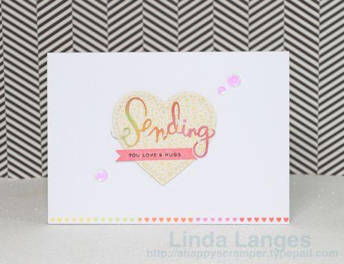 Watercoloured panels Sending card
