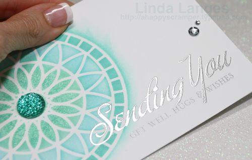 Sending You…silver embossing