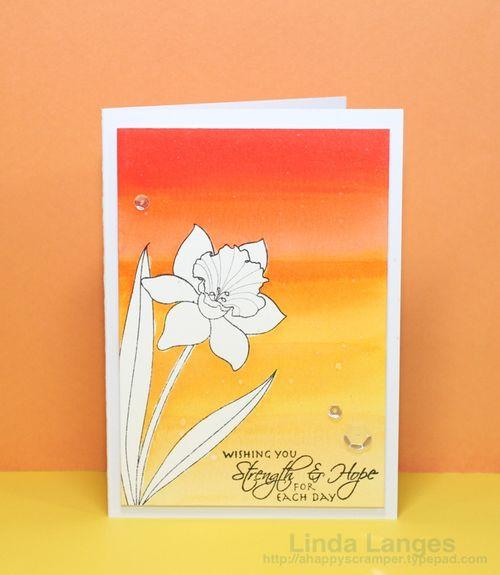 Liquid Masking Daffodil Card