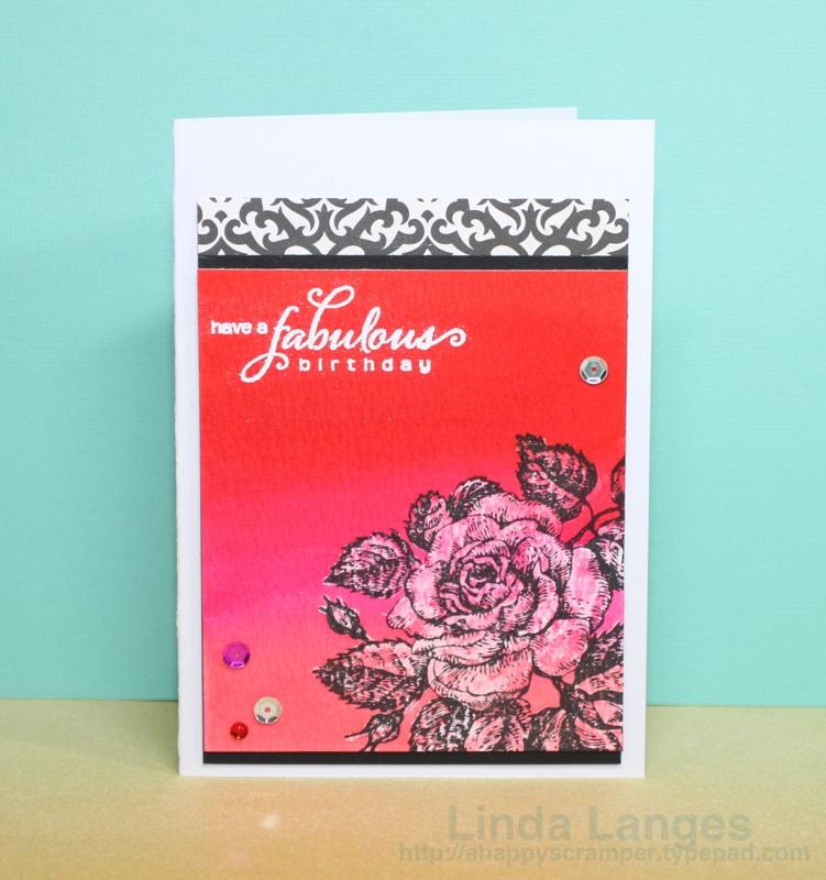 Liquid masking rose card