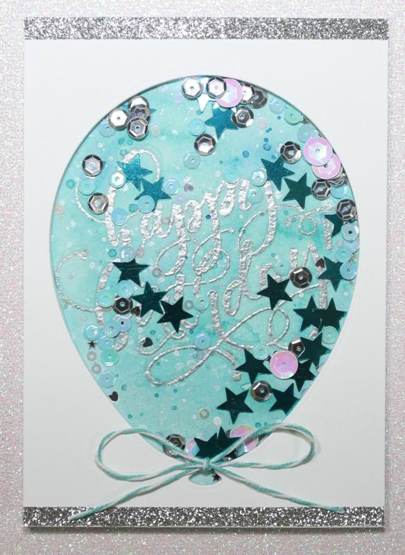 Balloon Shaker Card CU