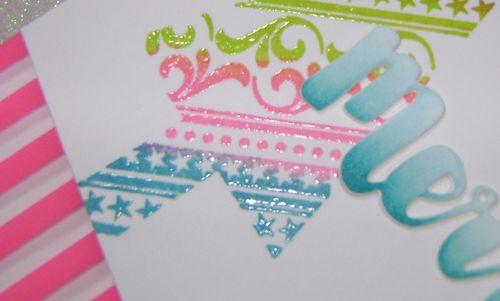 Whimsical Xmas Card Pinknarrow
