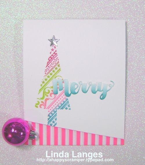 Whimsical Xmas Card Pink