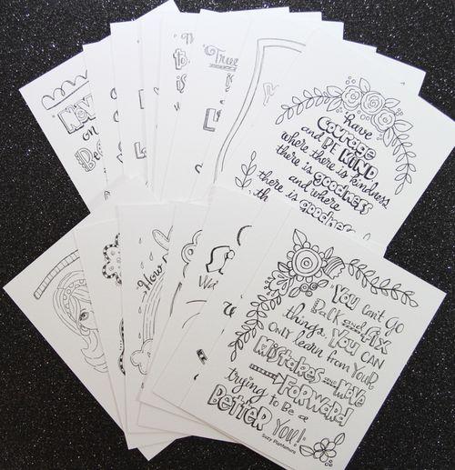 Suzy's WC Doodle Cards