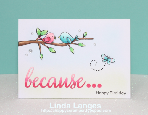 MFT Tweet on You; MFT Because You; #mftstamps; Linda Langes