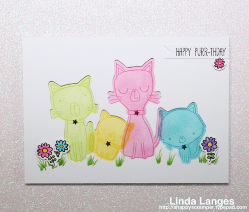 MFT Cat-itude; #mftstamps; Linda Langes;