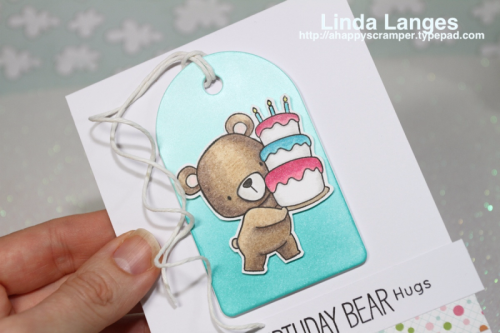 MFT Beary Special Birthday, #mftstamps, birthday card, prismacolor pencils, #sssfave, #echopark, #thedailymarker30day