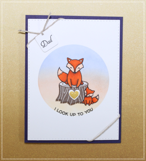 Father's Day Card, Lawn Fawn Mom and Me, #lawnfawn, copics
