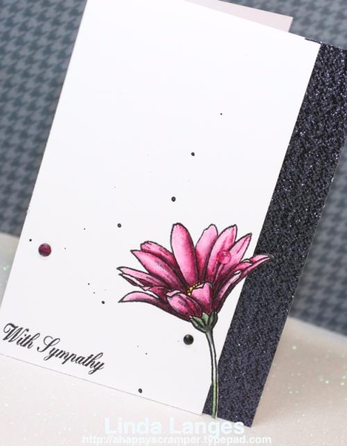 Sympathy Card, Happy Little Stampers, Linda Langes, Happy Scramper, Especially for You Stamp Set, HLS, Tombow Markers