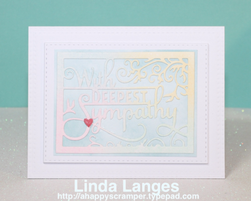 Sympathy Card, Distress Inks, Ink Blending, Linda Langes, Happy Scramper, pastels