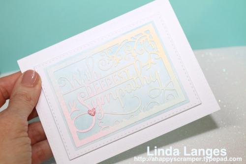 Sympathy Card, Distress Inks, Ink Blending, Linda Langes, Happy Scramper, pastels