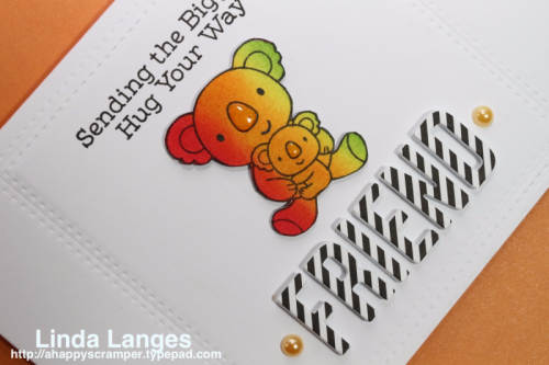 MFT Cuddly Koalas, Linda Langes, ink blending, die cutting, black and white, dry embossing