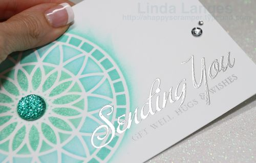 Sending You…silver embossing