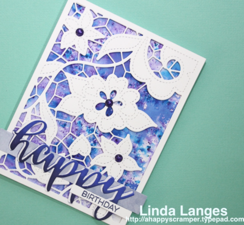 Scrapbook Boutique September Challenge, Altenew Doodled Lace Cover Die, Brushos, Linda Langes