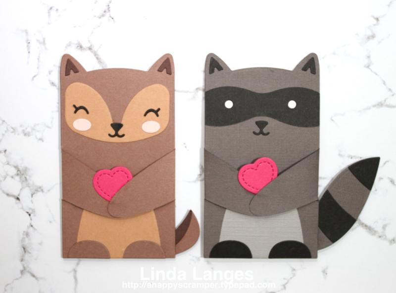 Critter Hugger Gift Card Holders x 2